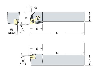 Tool Holders-MCLN95°,MCRN75°,MTJN93°,MTEN60°,MCLNR, MCRNR,MTJNR,MTENN
